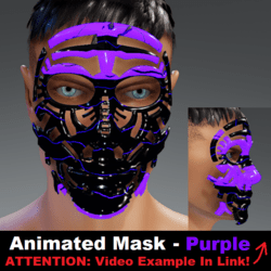 Animated Mask: Purple - Male Avatars