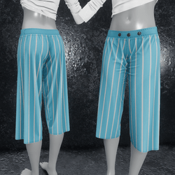 Culottes with stripes blue