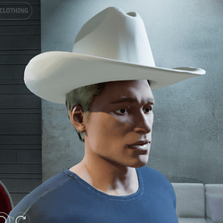 Cowboy Hat for Sum Hair (Male)