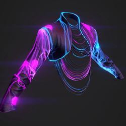 Fashion Jacket - Neon Retro Skin - Male