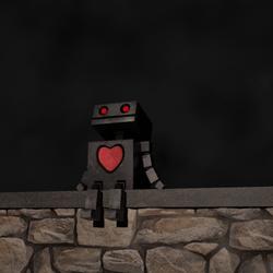 Little robot in love