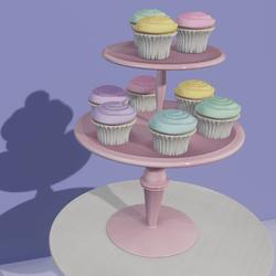 Rainbow Cupcake Stand