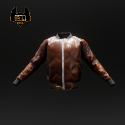 R.L.BOMBER LEATHER BROWN JACKET
