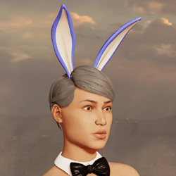 Sexy Bunny Ears - Up - Light Blue