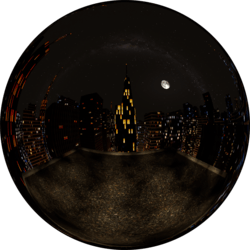 City Rooftop Night Foggy Skybox (v2)