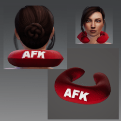 "Travel Pillow - Red AFK - Relieves Heavy Head Syndrome ""HHS"""