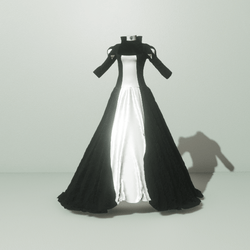 Queen Gown Black/White