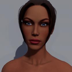 Angela - Toffee - Dark Pink Makeup - Blue Eyes - Women AV2