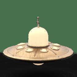 Vintage UFO Avatar Bronze