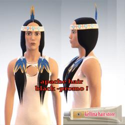 apache hair black promo -free