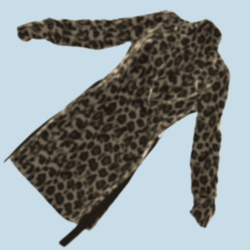 Ladies Leopard TrenchCoat - For the  fall  Fur affect