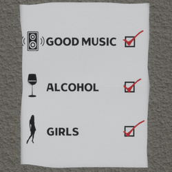 music alcohol girls wall poster