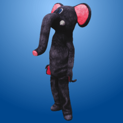 Dark Grey Elephant Costume