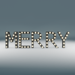 Merry Marquee Blinking Sign