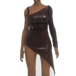 Dress With Leather Harness