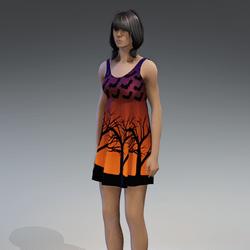 Dress Kassandra 2.0 halloween orange purple