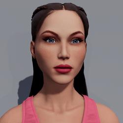 Angela - Sunkiss - Pink Makeup - Blue Eyes - Women AV2