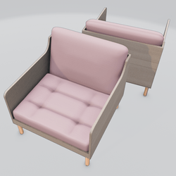 Chronicle Lounge Chair Pink