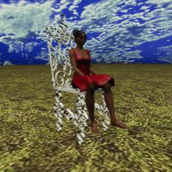 Wrought Iron White Garden Chair