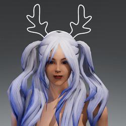 Diadem Reindeer White Blinking