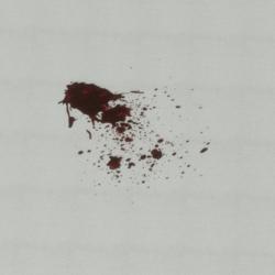 Transparent blood splash