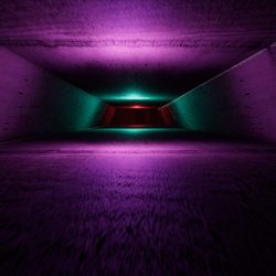 LONG CONCRETE TUNNEL STRUCTURE - DARK/SUN ENVIRONMENT LIGHTS ADJUSTMENT