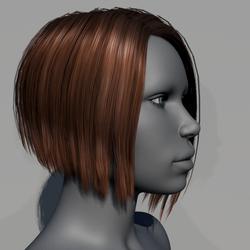 Hair - Asymmetrical Bob - Brown Cinnamon