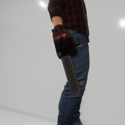 CHAIN SAW HAND (male avatar)
