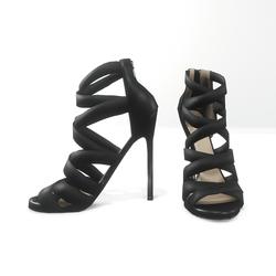 Strappy stiletto sandals for nicci - black