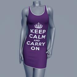 MPP - Keep Calm Dress - Carry On - Purple