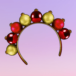 Ornaments Headband Red Gold
