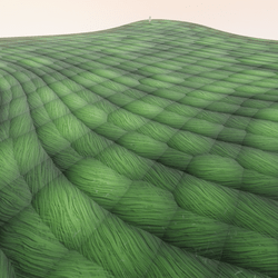 SCI-FI RUG -THICK FABRIC SHADES OF GREEN BLENDED