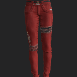 DAMAGED PANTS F RED