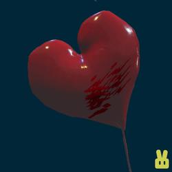 confetti heart balloon