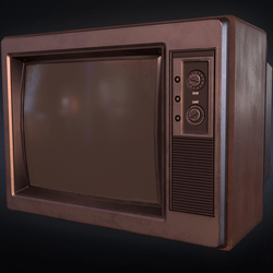 Wireframe - Old TV