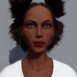 Angela - Toffee - Dark Red Makeup - Blue Eyes - Women AV2