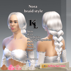 Nora -braid style- base white -infinity colors