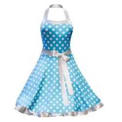 Fifties Rockabilly Polka Dot Dress blue
