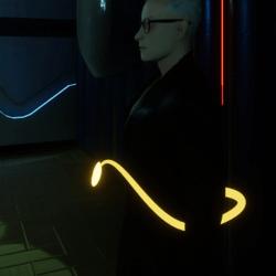 Demon Tail Heart Yellow (Glow Yellow)