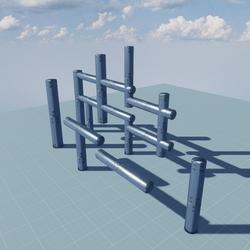 BUILDER KIT ALUMINUM INDUSTRIAL/AIR CONDITIONING PIPES(decorative)