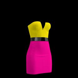 80's Day-Glow Club Dress 15
