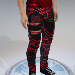 NARCIS JEANS BLACK RED EMISSIVE