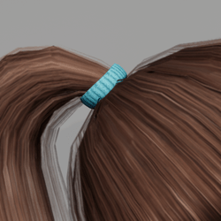 Elastic for Pony Tail - Blue