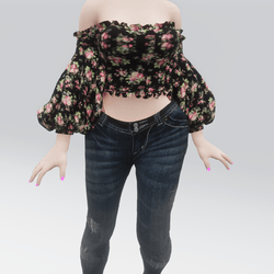 Frilly Rose Blouse