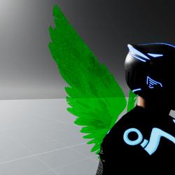 Lame Green Screen Wings M