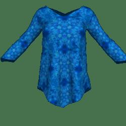 V Lines Tunic - Blue Fractal