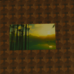 Bamboo Sunset Painting