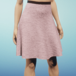 Silk Skirt with pleats