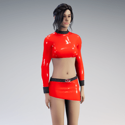 Outfit Adira Latex red