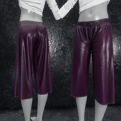 Culottes Leather purple